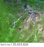 Norilsk is a major city in Krasnoyarsk Krai, Russia, and the northernmost... Редакционное фото, агентство World History Archive / Фотобанк Лори
