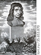 Balthasar Becker (1634-1698)  Dutch divine and author of philosophical... Редакционное фото, агентство World History Archive / Фотобанк Лори