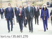 King Felipe VI of Spain, Pedro Sanchez, Prime Minister, Guillaume... Редакционное фото, фотограф ©MANUEL CEDRON / age Fotostock / Фотобанк Лори