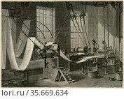 Colouring wallpaper, France, 1887. Редакционное фото, агентство World History Archive / Фотобанк Лори