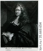 Pierre Corneille (1606-1684) French dramatist known for his tragedies. Редакционное фото, агентство World History Archive / Фотобанк Лори