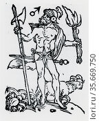 Planetary figure of Mars. From 'Sphaera mundi', Strasburg, 1539. Редакционное фото, агентство World History Archive / Фотобанк Лори