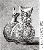 Pre-Columbian Whistling Jar. The whistling pot, an aerophone wind... Редакционное фото, фотограф Jerónimo Alba / age Fotostock / Фотобанк Лори