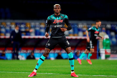 Victor Osimhen (Napoli) during the match ,Naples, ITALY-18-04-2021.