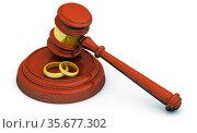 Судебная практика по бракоразводным процессам. Стоковая иллюстрация, иллюстратор WalDeMarus / Фотобанк Лори