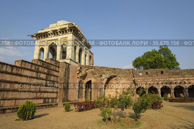 Ashrafi Mahal in Mandu, Madhya Pradesh, India. It was originally build...