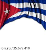Flag of Cuba waving in the wind 3D illsutration. Стоковое фото, фотограф Aleksandar Ilic / easy Fotostock / Фотобанк Лори