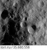 This Dawn framing camera (FC) image of steroid Vesta shows Fabia ... Редакционное фото, агентство World History Archive / Фотобанк Лори
