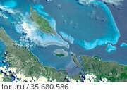 Six marine clusters that represent the main diversity of coral reefs... (2003 год). Редакционное фото, агентство World History Archive / Фотобанк Лори