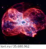 The star is ending its life by casting off its outer layers of gas... Редакционное фото, агентство World History Archive / Фотобанк Лори