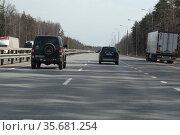 Трасса М7, московская область. Редакционное фото, фотограф Дмитрий Неумоин / Фотобанк Лори