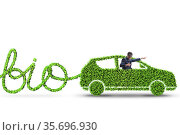 Businessman with car powered with biofuel. Стоковое фото, фотограф Elnur / Фотобанк Лори