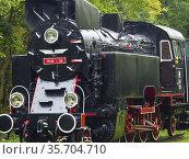 Poland. Bialowieza. Old locomotive. Стоковое фото, фотограф Piotr Ciesla / age Fotostock / Фотобанк Лори