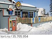 The Village at Silver Star ski resort near Vernon, BC, Canada. Редакционное фото, фотограф Douglas Williams / age Fotostock / Фотобанк Лори