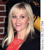 Reese Witherspoon 2012, Photo By John Barrett/PHOTOlink (2008 год). Редакционное фото, фотограф Photo By John Barrett/PHOTOlink / age Fotostock / Фотобанк Лори