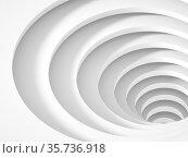 Abstract empty white tunnel portal goes down, 3 d. Стоковая иллюстрация, иллюстратор EugeneSergeev / Фотобанк Лори