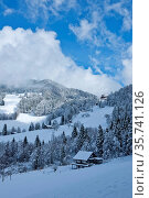 Switzerland, Vaud, Waadt, hiver, winter, neige, Schnee, snow, Souloup... Стоковое фото, фотограф Stephan Engler / age Fotostock / Фотобанк Лори