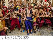 Preludio de la batalla. Moros y cristianos. Pollença. Sierra de Tramuntana... Редакционное фото, фотограф Tolo Balaguer / age Fotostock / Фотобанк Лори