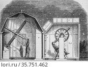 Amateur observatory, the picturesque magazin, editor edouard charton... (2009 год). Редакционное фото, фотограф Louis Bertrand / age Fotostock / Фотобанк Лори