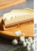 cutaway cake with delicious filling. Стоковое фото, фотограф Nataliia Zhekova / Фотобанк Лори