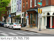 11th St  Philadelphia, Pennsylvania. USA. Urban landscape. Редакционное фото, фотограф Валерия Попова / Фотобанк Лори