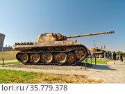 German Panther medium tank since World War II. Стоковое фото, фотограф Арестов Андрей Павлович / Фотобанк Лори