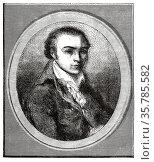 Portrait of André Marie Chénier (1762-1794) was a French poet of ... Стоковое фото, фотограф Jerónimo Alba / age Fotostock / Фотобанк Лори