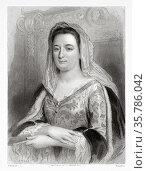 Portrait of Madame de Maintenon. Francoise d'Aubigné (1635-1719) ... Стоковое фото, фотограф Jerónimo Alba / age Fotostock / Фотобанк Лори