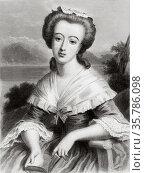 Portrait of Madame Necker. Suzanne Curchod (1737-1794) was a French... Стоковое фото, фотограф Jerónimo Alba / age Fotostock / Фотобанк Лори
