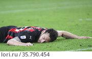 Hakan Calhanoglu (Milan) during the match ,Turin, ITALY-08-05-2021. Редакционное фото, фотограф Alberto Ramella / Sync / AGF/Alberto Ramella / Syn / age Fotostock / Фотобанк Лори