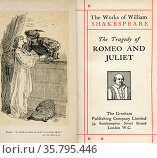 Frontispiece and title page from the Shakespeare play Romeo and Juliet... Редакционное фото, фотограф Classic Vision / age Fotostock / Фотобанк Лори