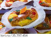 Catalan tortell de Reis. Стоковое фото, фотограф Яков Филимонов / Фотобанк Лори