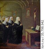 I. Mariano Asuncion, St. Scholastica, 1876. Oil on canvas. Редакционное фото, агентство World History Archive / Фотобанк Лори