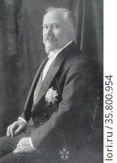 Raymond Poincaré (1860–1934); French President. Редакционное фото, агентство World History Archive / Фотобанк Лори