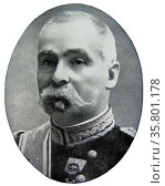 Paul Gerald Pau; (1848; - 1932) French General; a commander of an army at the beginning of World War I. Редакционное фото, агентство World History Archive / Фотобанк Лори