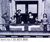King Haakon; Crown Princess Martha; Prince Olav; Princess Ragnhild; princess Astrid AND Prince Harald of Norway. Редакционное фото, агентство World History Archive / Фотобанк Лори