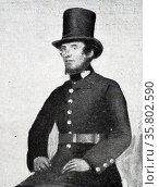 A Peeler or Police Officer circa 1845. Редакционное фото, агентство World History Archive / Фотобанк Лори