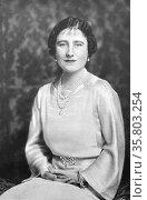 The Duchess of York (later Queen Elizabeth of England) Редакционное фото, агентство World History Archive / Фотобанк Лори
