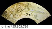 Li Shih-ta (documented 1574-1620) Landscape with Figures, China, Leaf of a fan. Редакционное фото, агентство World History Archive / Фотобанк Лори