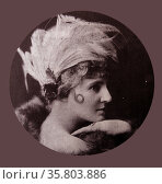Florence Lawrence (1886-1938) was a Canadian-American stage performer and film actress. Редакционное фото, агентство World History Archive / Фотобанк Лори