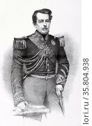 Luis Alves de Lima e Silva, Marquis of Caxias, 1861. Редакционное фото, агентство World History Archive / Фотобанк Лори