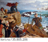 How the Danes Came up the Channel a Thousand Years Ago' Редакционное фото, агентство World History Archive / Фотобанк Лори