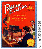 Front Cover of Practical Electrics. Редакционное фото, агентство World History Archive / Фотобанк Лори
