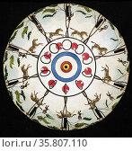 Optical illusion disc, 'The Desert' Редакционное фото, агентство World History Archive / Фотобанк Лори