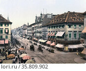 Kaiser Strasse, Karlsruhe, Baden, Germany, 1895. Редакционное фото, агентство World History Archive / Фотобанк Лори