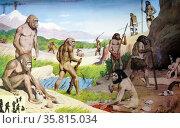 Evolution of human beings. Редакционное фото, агентство World History Archive / Фотобанк Лори