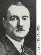 Photograph of Marcel Pilet-Golaz. Редакционное фото, агентство World History Archive / Фотобанк Лори