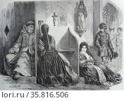 A confessional in a church in Lima, Peru. 1850. Редакционное фото, агентство World History Archive / Фотобанк Лори