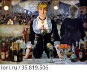 A bar at the Folies-Bergère. Редакционное фото, агентство World History Archive / Фотобанк Лори