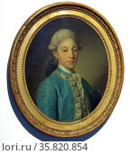 Portrait of the Marquis de Saint-Paul by Jean Baptiste Greuze (1725-1805) oil on canvas, c 1760. Редакционное фото, агентство World History Archive / Фотобанк Лори